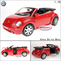 1:18 Vw beetle roadster red exquisite alloy car model free air mail