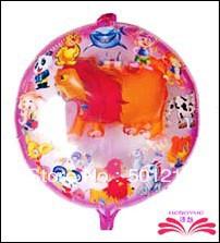 frete grátis 19 polegadas bola em balão bola de leão, animal balão foil forma. 50x50cm tamanho(China (Mainland))