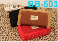 2013 Free shipping Hot sale women PU purse fashion fluffy brand purse day clutches zipper purse for lady retail/wholesale BB-503