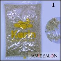 Tiny Circle Silver Caviar Ball Beads Nail Art Metallic Decoration Manicure Pedicure Size: 1mm #1
