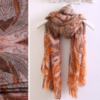 Hot fashion girl vintage decorative pattern spring and autumn thin scarf silk scarf  184*95cm cotton scarf wraps free shipping