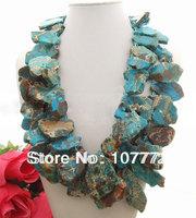 Stunning! Imperial Jasper&Crystal Necklace   free +shippment