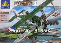 Enlighten Child F2B Fighter 82002 KAZI military brick,building block sets,toy blocks plastic educational building free Shipping