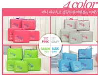 Free Shipping 2013 New Traveling Bag in Bag , Mesh pouch Nylon Organizer Bags (5pcs/set) 280g
