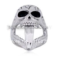 Free Shipping! 3pcs Skeleton Skull Stainless Steel Men's Ring MER807