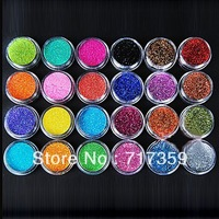 1set Free Shipping New 24Colors Nail Art Tool Kit Acrylic UV Powder Make up Metal Shiny Glitter Dust   600271