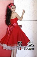 CHQY--CHQY--Fan Bingbing little red dress wedding dress toast the star of the same paragraph evening dress bridesmaid dress LF88