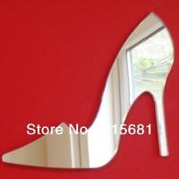 Waterproof circle round shape acrylic mirror wall sticker/Stiletto shoe Mirrors