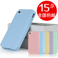 Candy for apple 4 phone case silica gel set for iphone 4 s phone case for iphone 4 phone case
