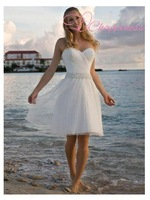 Free Shipping Short Beach Sweetheart Bridal Wedding Dresses