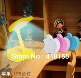 Apple shape LED Table Lamp Folding Mini White Light / 11 beads / 5 Colors - Free Shipping