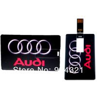 Audi Card USB Flash Memory Drive Stick W/Gift box 2GB 4GB 8GB 16GB 32GB wholesale free shipping