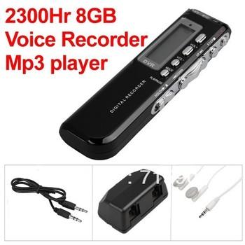 8 GB Digital Audio Voice Phone Recorder Dictaphone