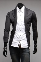 Free shipping 2013 Fashionable Men Fake Two Pieces Long Sleeve T-Shirt, Thin Sweater t-shirts