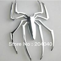 good price New Metal electrofacing 3D spider Car sticker spider sticker car body sticker