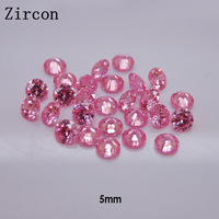 Wholesale 3D Nails Decoration Zircon Point Back Nail Art Accessories 100 pcs/pack 5mm*5mm Pink Clear Round  + Free shipping