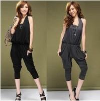 Free Shipping Lady's Halter Design Blouse Jumpsuit Women's jumpsuit overall Harem pants halter-neck