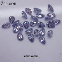 Wholesale 3D Nails Decoration Zircon Point Back Nail Art Accessories 100 pcs/pack 4mm*6mm Purple Clear Teardrop-shape