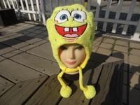 Punk Style Wholesale 8pcs/lot short style SpongeBob Plush Hats Cartoon Caps Cotton Velveteen Warm Hats