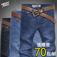 Spring new arrival men's clothing male straight jeans pants trousers denim male