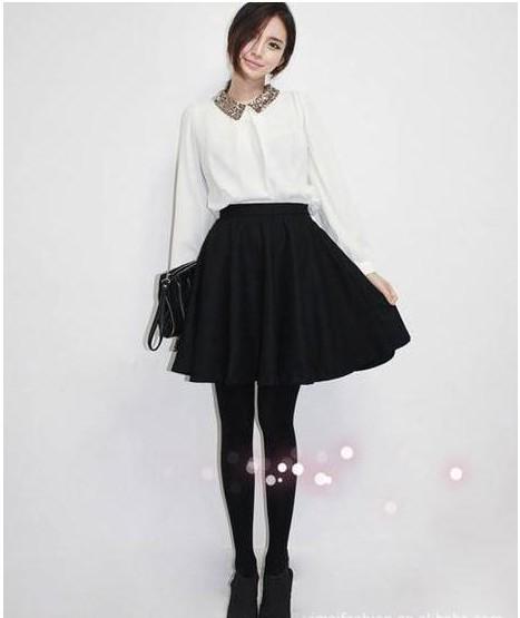 корейских женщин моды сладкий длинным рукавом