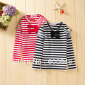 5pcs/lot girls t shirt kids top clothes lace stripe spring tee BC180, 2colors ,2-6years
