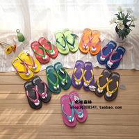 Little monkey multicolour lovers design slip-resistant massage sandals flip flops 0.3 -Free Shipping