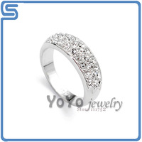 Min order is 15 USD, 18k Gold Plated , Hot sale Italina Platinum ring, free shippings ,Yo-906170002AS0240