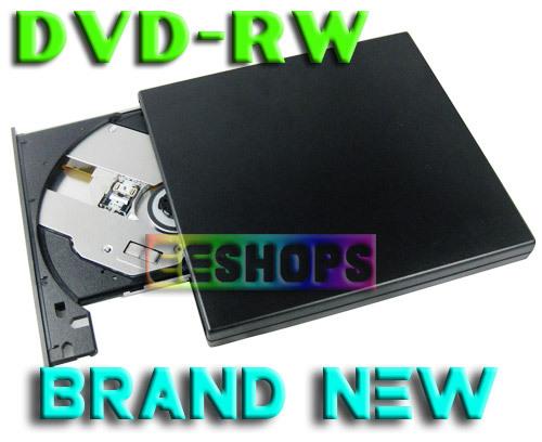 Brand New HL 8X DL DVD CD RW Burner Writer Tray-Loading Slim USB 2.0 External Drive Black Wholesale Free Shipping(Hong Kong)