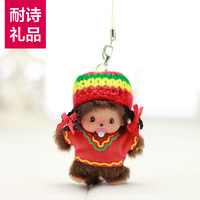 * MONCHHICHI bb 8cm bags exhaust pipe cell phone accessories birthday gift schoolgirl