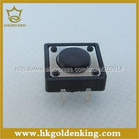 100pcs/lot  DIP  4pins Tactile Push Button Switch   12X12X4.3 mm  Free Shipping