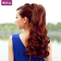 Free shippin Ponytail wig big wave lace straps fake ponytail long curly ponytail volume
