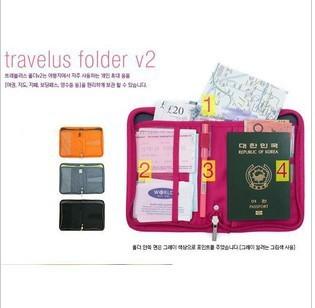NEW version multifunction  travel bag travelus folder passport holder ticket folder
