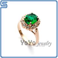 Min order is 15 USD, 18k Gold Plated , Hot sale Italina  Men Emerald ring, free shippings ,e shippings ,Yo-1102049001AA0220
