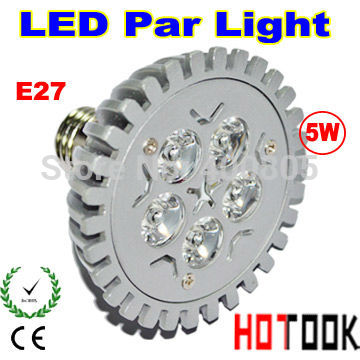 Dropship E27 5W Par 20 PAR20 LED Bulb Lamp Light 85-256V with 5leds Light warranty 2 years CE & RoHS - free shipping(China (Mainland))