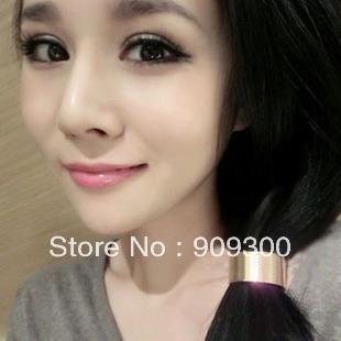 Free shipping retail&wholesale fashion all-match metal circle design headband hair rope for women(China (Mainland))