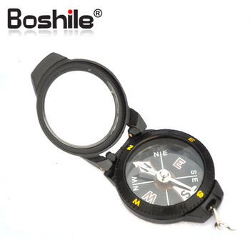 Free shipping Boshile quality metal shell metal key chain pocket watch style compass t43fe