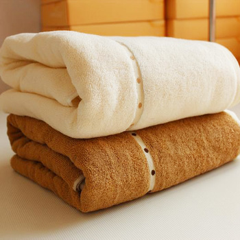 Free Shipping Increase the thickening classic counter genuine high-end bath towel cotton 180 * 80 550g 4320A brown white