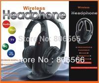 Multifunction 5 in 1 HiFi Wireless Headphone Earphone Headset Wireless Monitor FM Radio MP3 PC TV Audio Phones