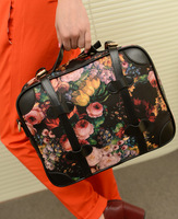 Fashion vintage 2013 computer women's handbag one shoulder cross-body oil painting flower big bags