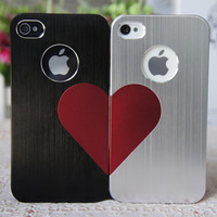 OZAKI Couple Case Love Heart Couple Plastic Hard Skin Cover For iPhone 4 4S Best Gift For Valentine's Day Free Shipping