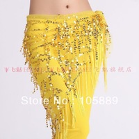 New arrival Free Shipping belly dance dancing triangle hip scarf wrap belt dance wear stage costume skirt 9 colors
