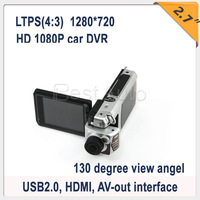Free Shipping 2.7'' F900 Full HD Portable Car DVR Camera H.264 DVR 130 view angle Lens + High Resolution 1280*720HDMI