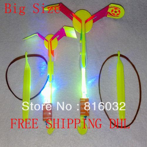 Very Cheap Big Size LED amazing arrow helicopter Light up flying arrow helicopter, LED umbrella light