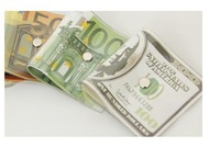 freeshipping 300pcs/lot Dollar / Japanese Yen / EURO Bill Currency Door Stopper, Money in the Door