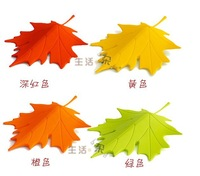 Free shipping 2pcs/lot Multicolor Autumn Maple Leaf Door Stopper, Home Decorative Ornament Door Stopper