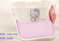 Free shopping 2013 New girls Bonnet wholesale Hello Kitty children's hat sunbonnet children baseball cap peaked cap  cool white