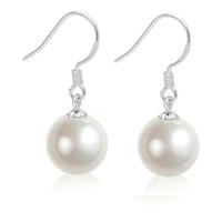 Jewelry pearl earrings drop earring pure white fungus earring silver jewelry female