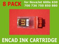 8 Pack Empty Ink Cartridge for Encad NovaJet 600 630 700 736 750 850 880