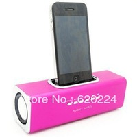 Free Shipping Aluminum multi-function Docking speaker for iPhone/iPod, music angle portable mini speakers,docking speaker